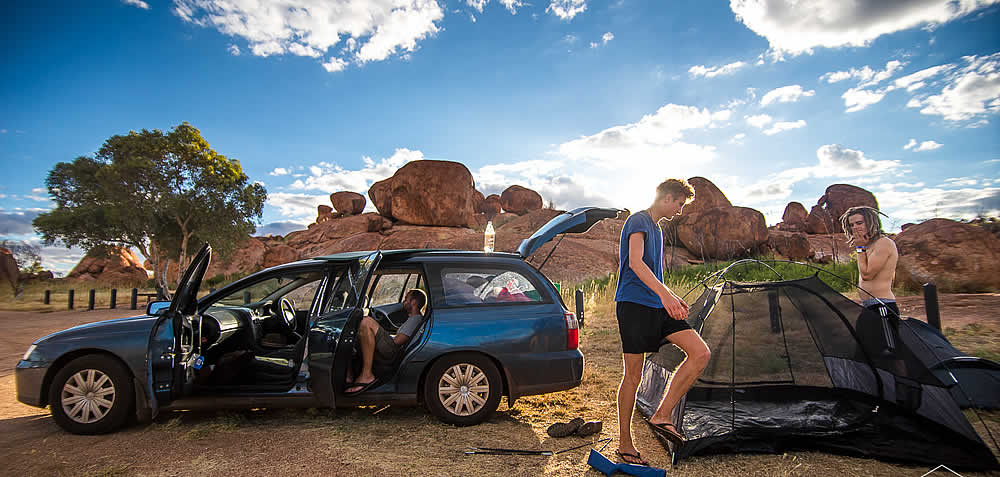 Fully equipped station wagons for backpackers