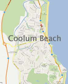 Coolum Beach Map - Enlarge to view details