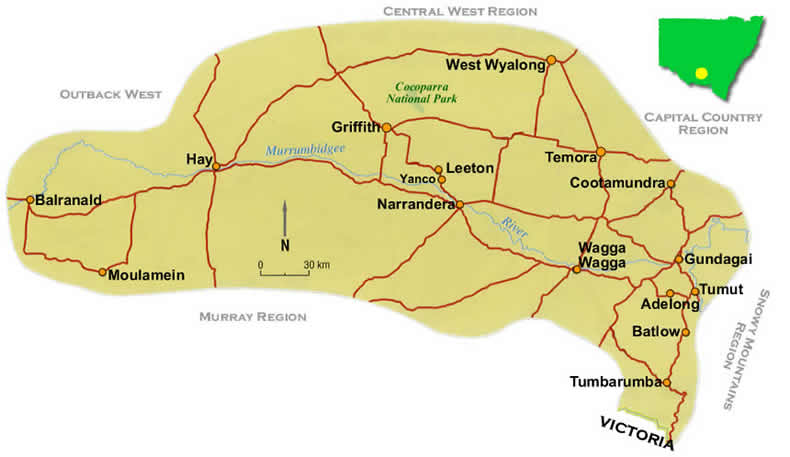 Riverina map nsw