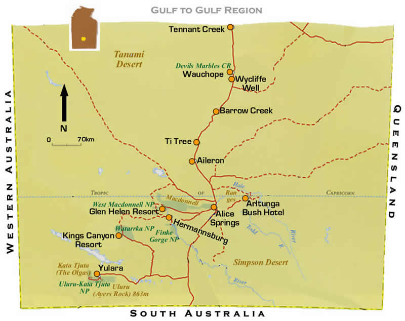 nt red centre road maps