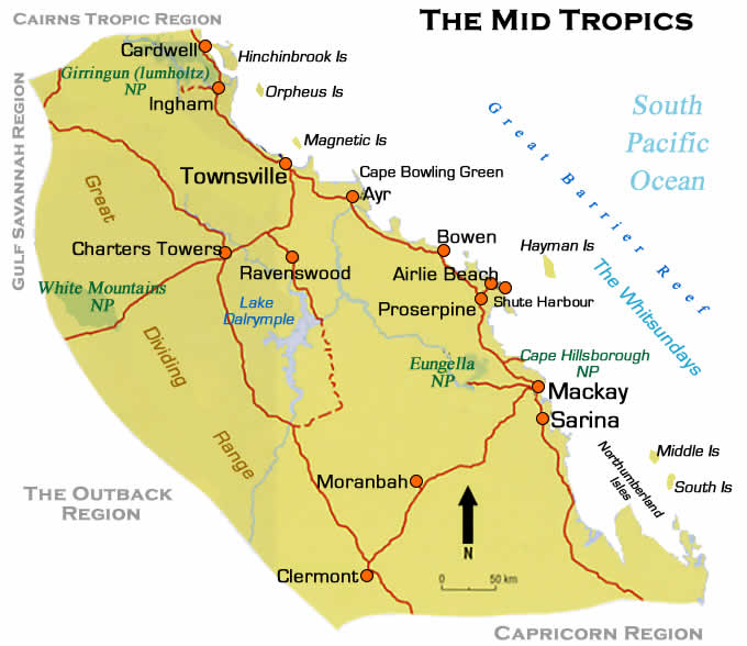 whitsunday coast map