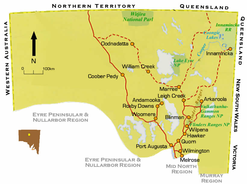 Flinders Ranges Region Road Maps South Australia