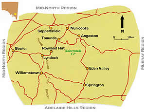 Map of Barossa Valley