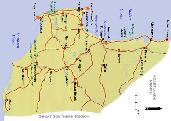 South west region wa