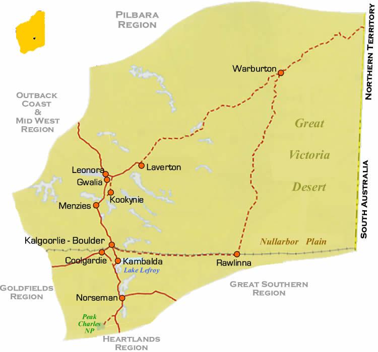 Wa Australia Map.Wa Outback Region Road Maps Western Australia