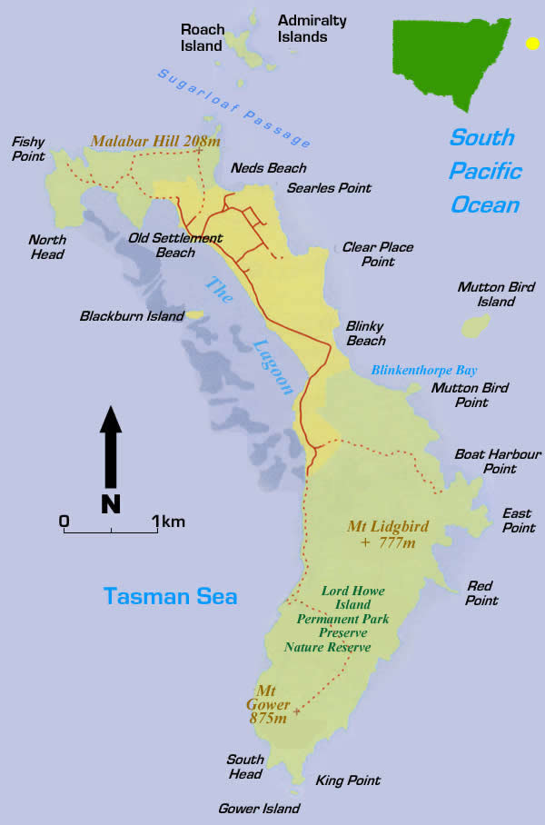 Lord Howe Island Map Lord Howe Island By Bailey Newton   Lessons   Tes Teach